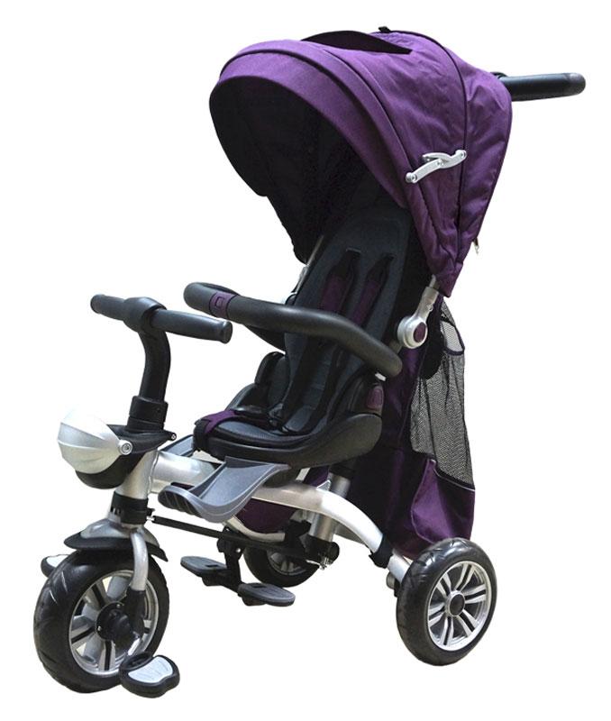 """Удобный, яркий и надежный трехколесный детский велосипед """"PitStop"""" выполнен из высококачественных материалов и окрашен нетоксичными красками, безопасными для здоровья ребенка. Такое транспортное средство несомненно понравиться вашему малышу. Конструкцией предусмотрена эргономичная ручка, с помощью которой мама или папа малыша смогут управлять направлением движения велосипеда, а также поворачивающиеся сидение. Велосипед дополнен удобной сумкой, подстаканником, складными подножками, а также козырьком-тентом от солнца."""