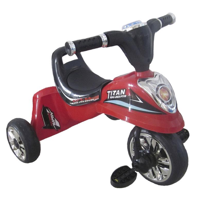 Pitstop Велосипед детский трехколесный цвет красный MT-BCL081500718829Детский трехколесный велосипед Pit Stop предназначен для детей от 3 лет. Велосипед выглядит очень стильно, он несомненно понравится вашему ребенку. На таком велосипеде очень легко начинать обучение езде на велосипеде, и он обязательно станет предметом гордости малыша. Основа велосипеда - металлическая, сиденье и спинка довольно удобные и выполнены из прочного пластика. На боках и задней части велосипеда имеются яркие характерные надписи.Колеса и педали у велосипеда - большие и удобные. На передней части велосипеда имеется светооотражатель.