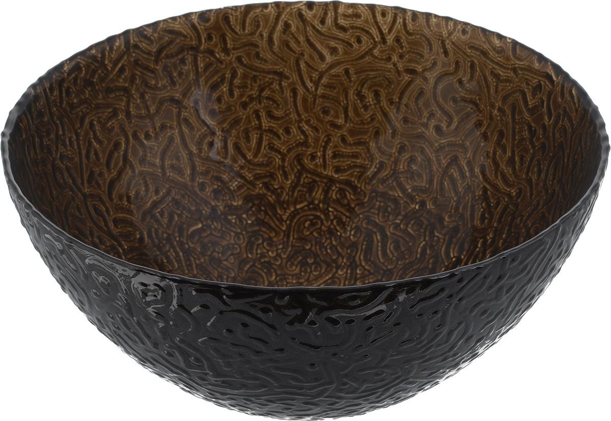 Салатник NiNaGlass Ажур, цвет: темно-коричневый, диаметр 20 см115510Салатник NiNaGlass Ажур выполнен из высококачественного стекла и декорирован рельефным узором. Идеален длясервировки салатов, овощей и фруктов, ягод, вторых блюд,гарниров и многого другого. Он отлично подойдет как для повседневных, так и для торжественных случаев.Такой салатник прекрасно впишется в интерьер вашей кухни истанет достойным дополнением к кухонному инвентарю. Диаметр салатника (по верхнему краю): 20 см. Высота стенки: 9 см.