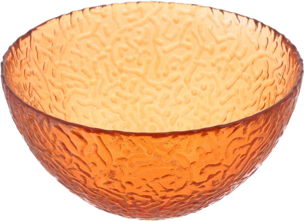 Салатник NiNaGlass Ажур, цвет: оранжевый, диаметр 16 см115510Салатник NiNaGlass Ажур выполнен из высококачественного стекла и имеет рельефную внешнюю поверхность. Такой салатник украсит сервировку вашего стола и подчеркнет прекрасный вкус хозяйки, а также станет отличным подарком.Диаметр салатника (по верхнему краю): 16 см. Высота салатника: 8,5 см.