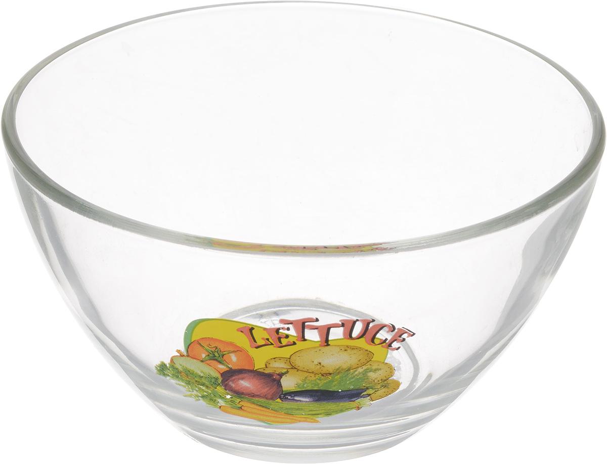 Салатник OSZ Латук, диаметр 12,5 см391602Салатник OSZ Латук изготовлен из бесцветного стекла и украшен ярким рисунком. Идеально подходит для сервировки стола.Салатник не только украсит ваш кухонный стол и подчеркнет прекрасный вкус хозяйки, но и станет отличным подарком. Диаметр салатника (по верхнему краю): 12,5 см. Высота салатника: 7 см.