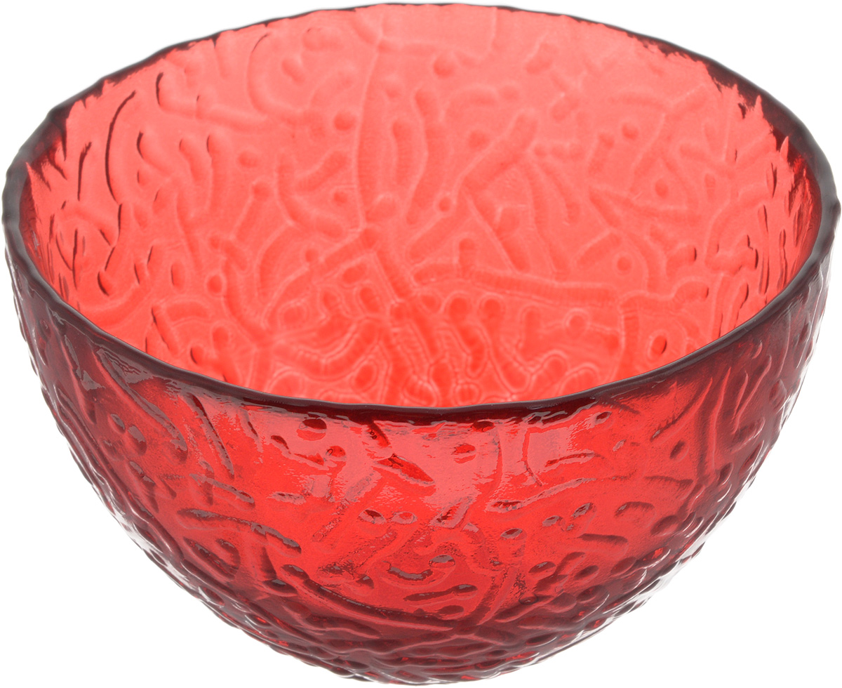 Салатник NiNaGlass Ажур, цвет: рубиновый, диаметр 12 см115510Салатник NiNaGlass Ажур выполнен из высококачественного стекла и имеет рельефную внешнюю поверхность. Такой салатник украсит сервировку вашего стола и подчеркнет прекрасный вкус хозяйки, а также станет отличным подарком.Диаметр салатника (по верхнему краю): 12 см. Высота салатника: 7,5 см.