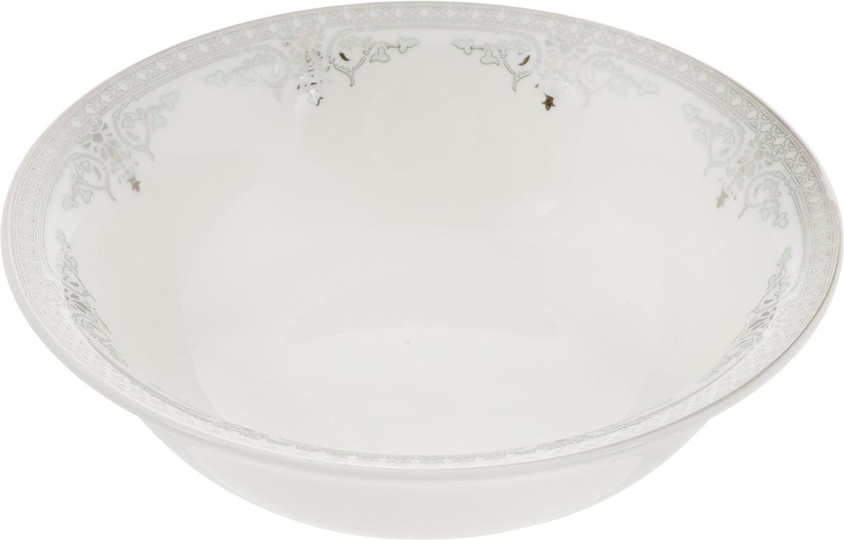 Салатник Венеция, диаметр 16 см400203Элегантный салатник Венеция, изготовленный из высококачественного фарфора с глазурованным покрытием, прекрасно подойдет для подачи различных блюд: закусок, салатов или фруктов. Такой салатник украсит ваш праздничный илиобеденный стол, а оригинальное исполнение понравится любой хозяйке. Диаметр салатника (по верхнему краю): 15 см. Высота салатника: 5 см.