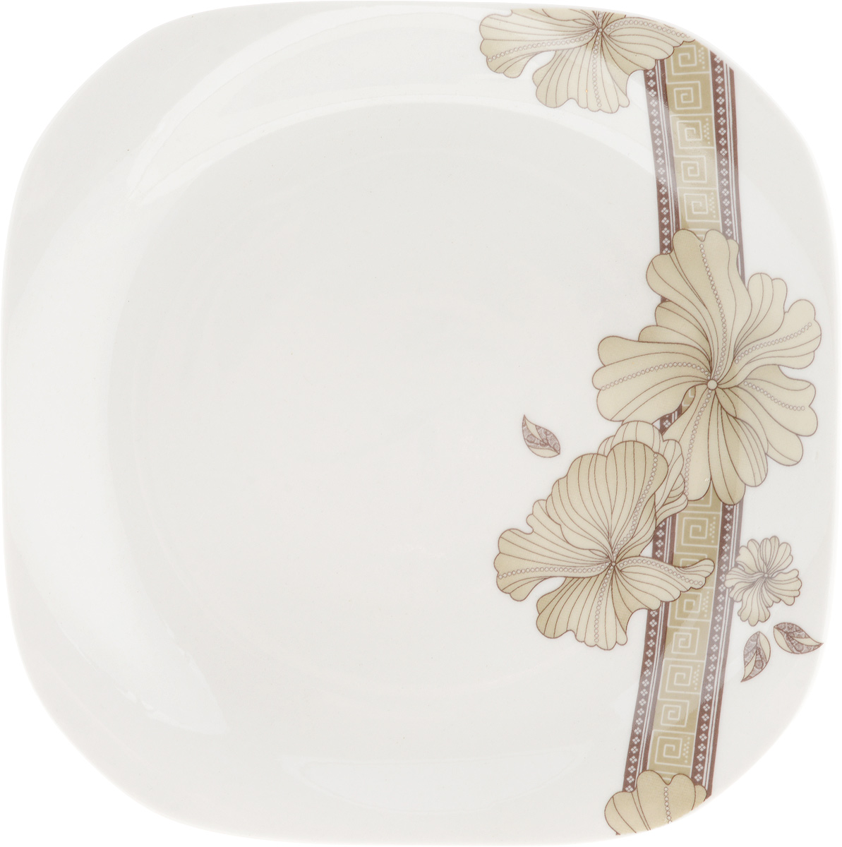Тарелка десертная София, 18 x 18 см115510Десертная тарелка София, изготовленная из качественного фарфора с глазурованным покрытием. Такая тарелка прекрасно подходит как для торжественных случаев, так и для повседневного использования. Идеальна для подачи десертов, пирожных, тортов и многого другого. Она прекрасно оформит стол и станет отличным дополнением к вашей коллекции кухонной посуды.