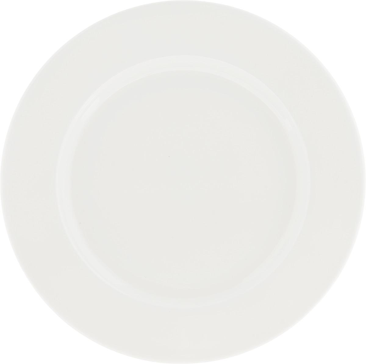 Тарелка Ariane Прайм, диаметр 19 см115510Оригинальная тарелка Ariane Прайм изготовлена из высококачественного фарфора с глазурованным покрытием. Изделие круглой формы идеально подходит для сервировки закусок и других блюд. Такая тарелка прекрасно впишется в интерьер вашей кухни и станет достойным дополнением к кухонному инвентарю. Можно мыть в посудомоечной машине и использовать в микроволновой печи. Диаметр тарелки (по верхнему краю): 19 см.