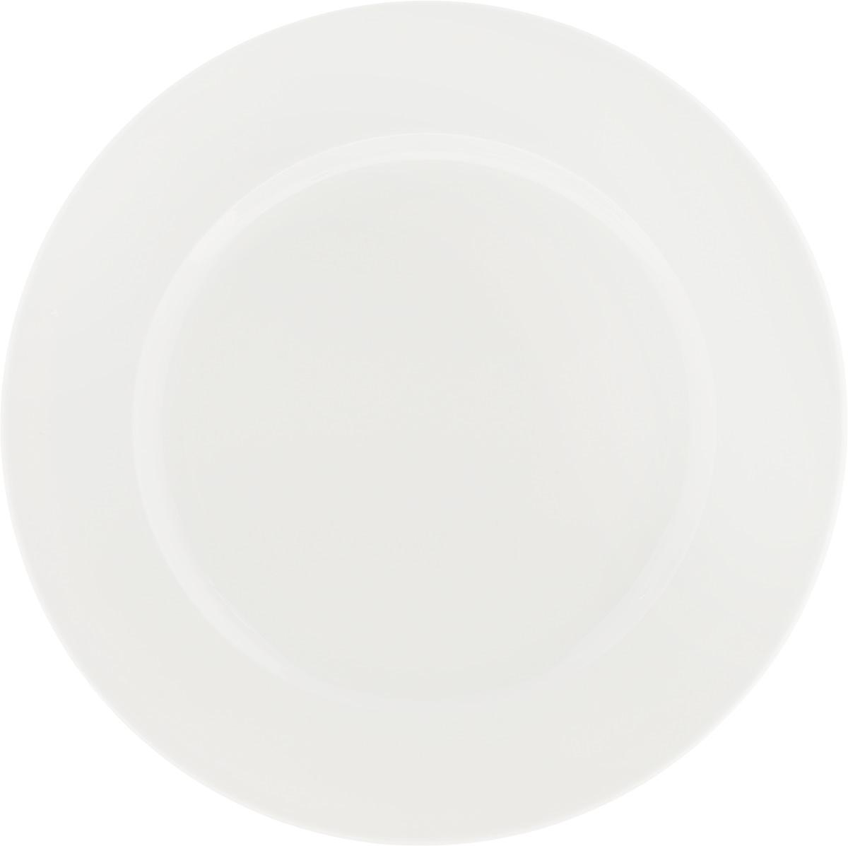 Тарелка Ariane Прайм, диаметр 29 см115510Оригинальная тарелка Ariane Прайм изготовлена из высококачественного фарфора с глазурованным покрытием. Изделие круглой формы идеально подходит для сервировки закусок и других блюд. Такая тарелка прекрасно впишется в интерьер вашей кухни и станет достойным дополнением к кухонному инвентарю. Можно мыть в посудомоечной машине и использовать в микроволновой печи. Диаметр тарелки (по верхнему краю): 29 см.