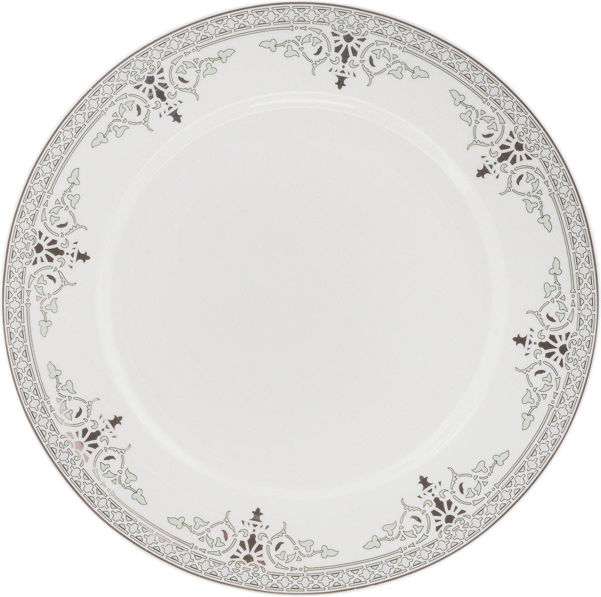 Тарелка подстановочная Венеция, диаметр 27 см2ТГ-21Тарелка Венеция изготовлена из глазурованного фарфора. Подстановочная тарелка - это особый вид тарелок. Обычно она выполняет исключительно декоративную функцию.Такая тарелка изысканно украсит сервировку как обеденного, так и праздничного стола. Диаметр тарелки: 27 см.