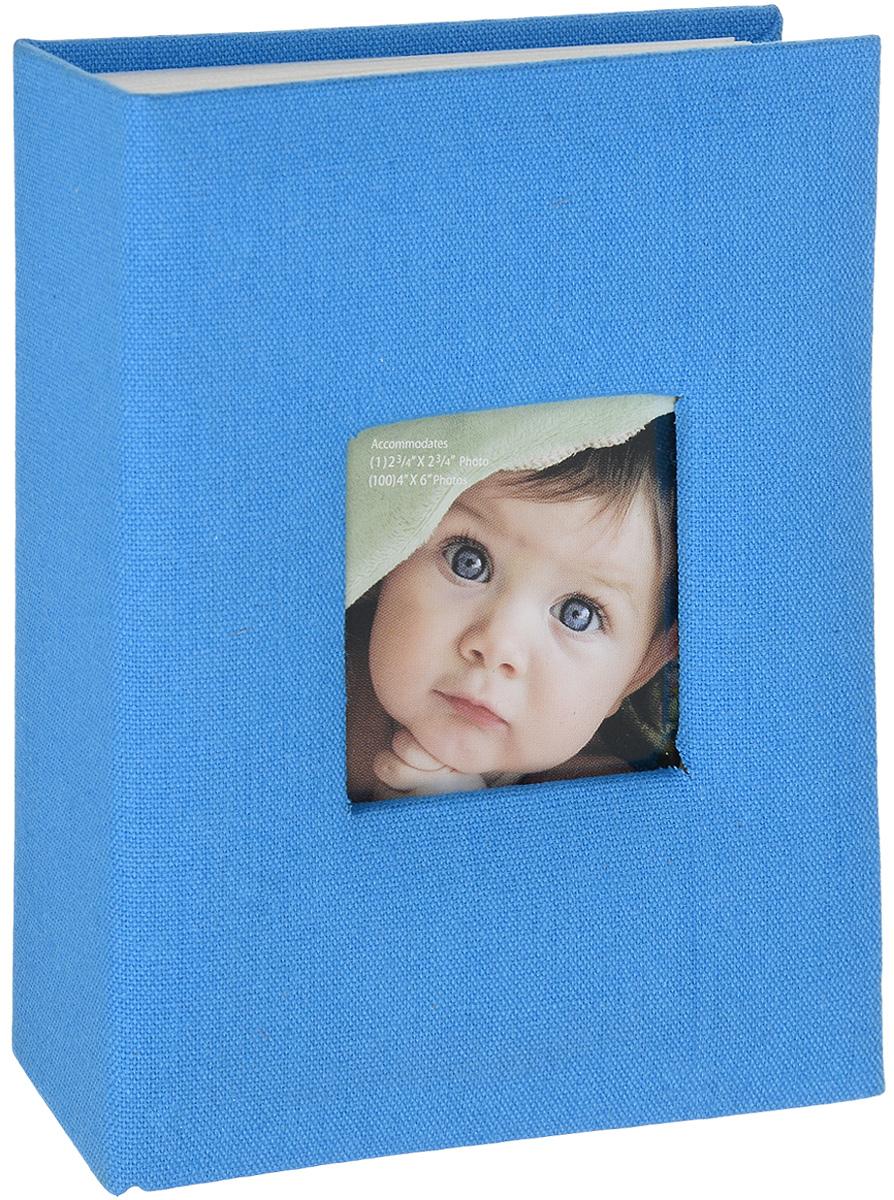Фотоальбом Окно, цвет: голубой, 100 фотографий, 10 х 15 см22316_черный, бежевый, оранжевый/С-46200LФотоальбом Окно сохранит моменты ваших счастливых мгновений на своих страницах! Обложка альбома выполнена из плотного картона, обтянутого однотонным текстилем. Специальное окошко позволяет поместить одну фотографию формата 8 х 8 см. Внутри содержится блок из 50 белых листов с фиксаторами-окошками из полипропилена. Фотоальбом рассчитан на 100 фотографий формата 10 х 15 см (по 1 фотографии на странице). Нам всегда так приятно вспоминать о самых счастливых моментах жизни, запечатленных на фотографиях. Поэтому фотоальбом является универсальным подарком к любому празднику. Количество листов: 50 шт.