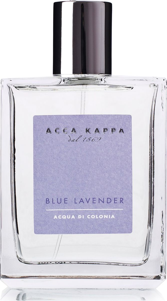 Acca Kappa Одеколон Голубая Лаванда 100 мл28032022Лаванда обожает солнце, она вольно растёт в широких полях. Её цветение сопровождается восхитительным ароматом, который развевается над волнующимся сиреневым морем, прославляющим великолепие итальянского лета. Облака фиолетового света, земля, залитая солнцем, и прозрачный воздух, омываемый ветром – всё это вдохновило свежий и классический аромат Blue Lavender./Свежий и оригинальный аромат создан на основе гармоничного сочетания драгоценных натуральных эфирных масел мяты, розового перца, марокканского розмарина и изысканной французской лаванды.