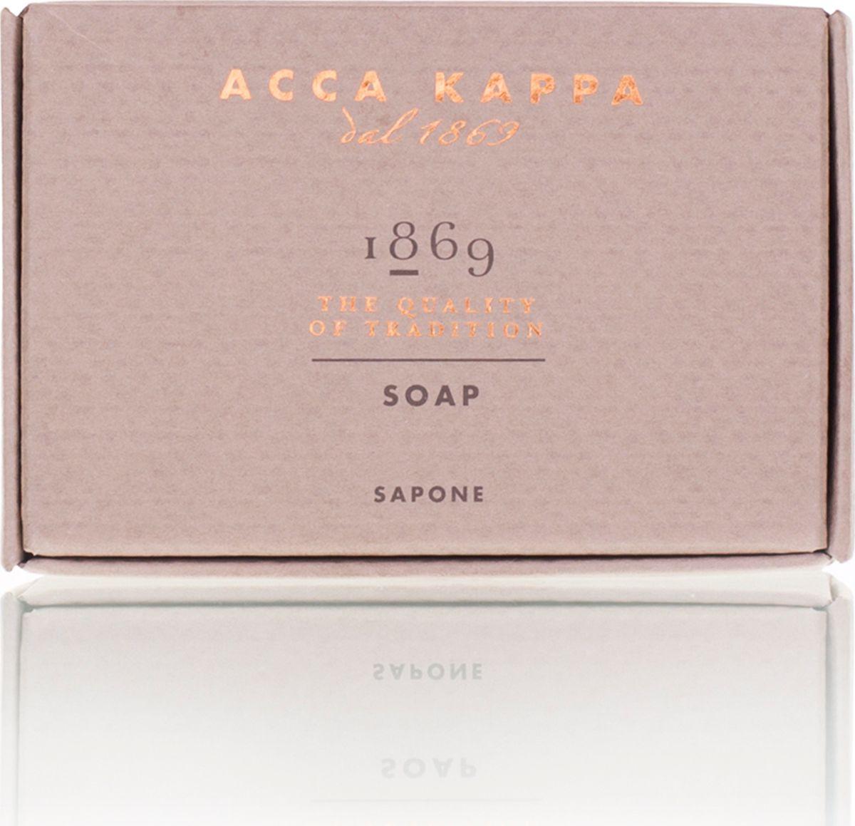 Acca Kappa Мыло туалетное 1869 100 гр5010777139655Мыло создано с использованием традиционных методов из сырья исключительно растительного происхождения.