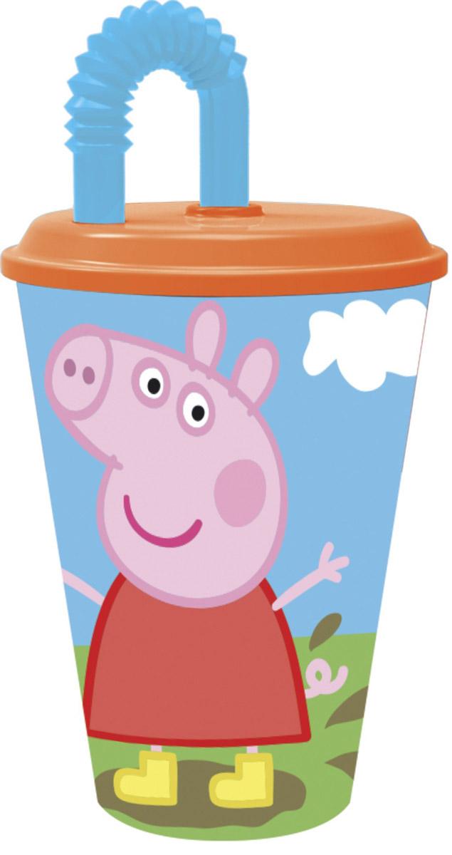 Peppa Pig Стакан детский с трубочкой Пеппа на полянке 450 млVT-1520(SR)Стакан с крышкой и трубочкой Peppa Pig Пеппа на полянке - это удобный и практичный вариант для поездок, путешествий и активного отдыха для вас и вашего малыша.Стаканчик выполнен из прочного полипропилена и украшен ярким изображением главной героини мультфильма Свинка Пеппа.Такой стаканчик удобен тем, что его можно брать с собой куда угодно, не беспокоясь о том, это он может разбиться или поранить ребенка.