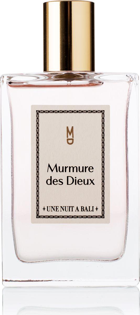 Une Nuit A Bali Парфюмерная вода Murmure des Dieux 50 мл28032022Аромат Murmure des Dieuх или «Шепот богов» посвящен ритуалам, которыие для жителей Бали являются символом благодарности. Это священное проявление уважения человека к богам. Композиция аромата воплощают легкость души, он воздушен и звучит как успокаивающий шепот, как мантра на коже. Сладкий аромат плюмерии тонко и гармонично сплетается с мягкими нотами риса, пряными нюансами звездчатого аниса и насыщенным аккордом мускуса, одновременно воплощая невесомость струящейся дымки благовоний и абсолютную чистоту и прозрачность святой воды. Murmure des Dieux – Аромат Души.