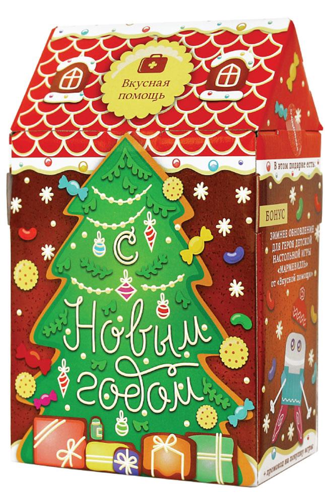 Вкусная помощь Детский подарок Домик, 279 г615457, 969786, 661712, 661737, 4017156Крутейший детский набор на Новый год со сладостями в удивительной дизайнерской упаковке в виде домика. Это набор по-настоящему новогодний, уютный и детский. Хотите порадовать своих малышей, тогда этот подарок для вас! Очень качественная упаковка из плотного картона в виде домика. После того, как ребенок съест все сладости, упаковку можно использовать как хранилище - очень ценное дополнение для детишек!В домике настоящий детский рай: круглые шоколадные конфеты с ореховой посыпкой, сливочной начинкой и тончайшей вафелькой; ментоловая Трость - настоящая новогодняя карамель, символ Нового года; банка мармеладных золотых мишек Для детей; банка сливочного печенья в форме Мишек; дизайнерское печенье в дополнение к игре Мармевилль.Уважаемые клиенты! Обращаем ваше внимание, что полный перечень состава продукта представлен на дополнительном изображении.