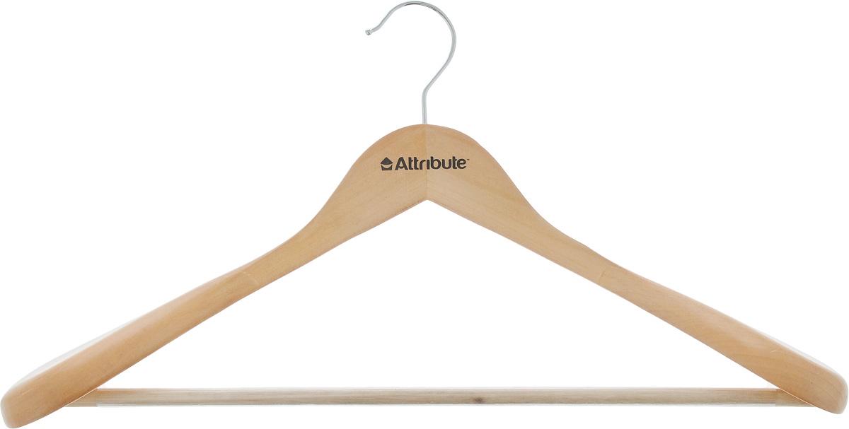 Вешалка для верхней одежды Attribute Classic, длина 44 см. AHN2116113MВешалка Attribute Classic, изготовленная из дерева и стали, предназначена для верхней одежды. Вешалка снабжена массивными плечиками, а также перекладиной с пластиковым покрытием. Вешалка - это незаменимый аксессуар для того, чтобы ваша одежда всегда оставалась в хорошем состоянии. Длина вешалки: 44 см.