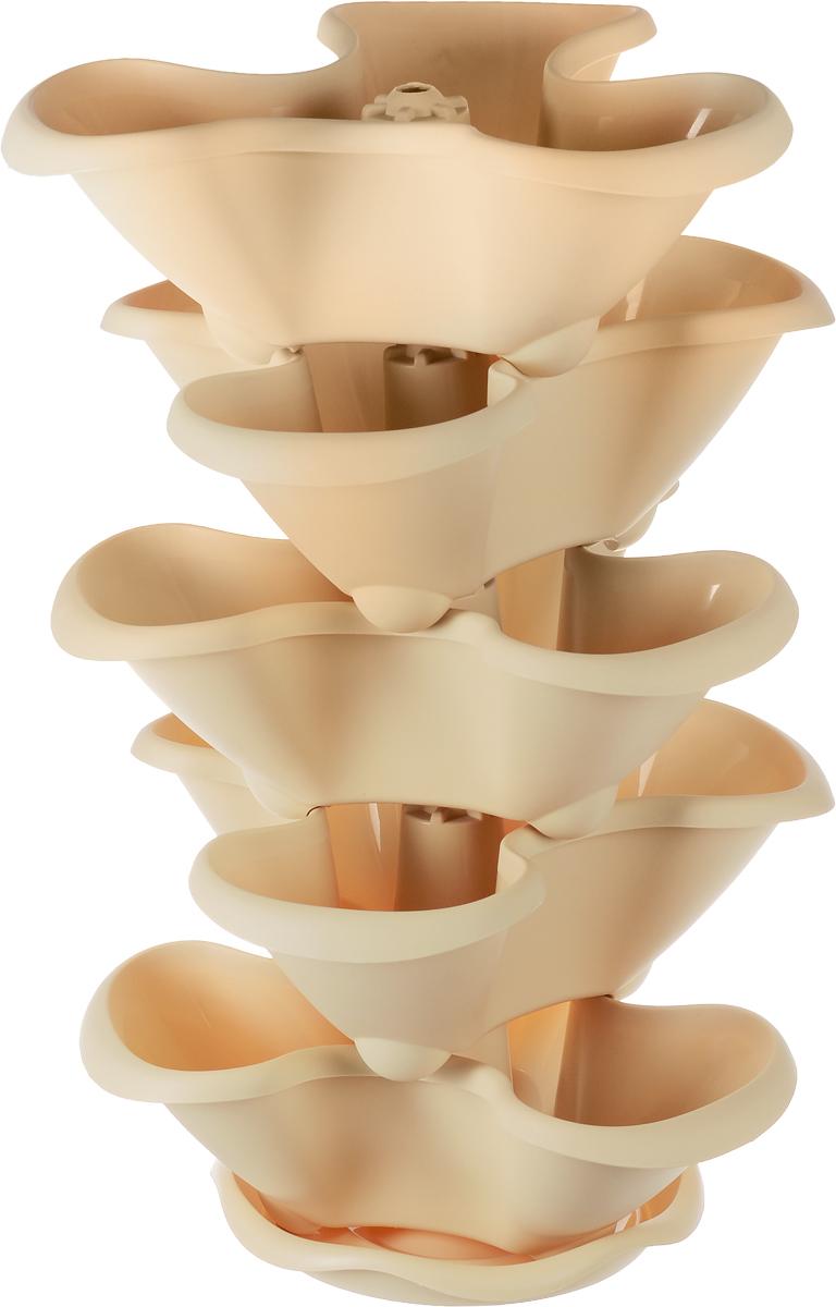 Этажерка цветочная Idea Гамма, цвет: белая глина, 5 кашпо4008429043253Любой, даже самый современный и продуманный интерьер будет не завершённым без растений. Они не только очищают воздух и насыщают его кислородом, но и заметно украшают окружающее пространство. Такому полезному &laquo члену семьи&raquoпросто необходимо красивое и функциональное кашпо, оригинальный горшок или необычная ваза! Мы предлагаем - Этажерка цветочная на 5 кашпо Гамма, цвет белая глина!Оптимальный выбор материала &mdash &nbsp пластмасса! Почему мы так считаем? Малый вес. С лёгкостью переносите горшки и кашпо с места на место, ставьте их на столики или полки, подвешивайте под потолок, не беспокоясь о нагрузке. Простота ухода. Пластиковые изделия не нуждаются в специальных условиях хранения. Их&nbsp легко чистить &mdashдостаточно просто сполоснуть тёплой водой. Никаких царапин. Пластиковые кашпо не царапают и не загрязняют поверхности, на которых стоят. Пластик дольше хранит влагу, а значит &mdashрастение реже нуждается в поливе. Пластмасса не пропускает воздух &mdashкорневой системе растения не грозят резкие перепады температур. Огромный выбор форм, декора и расцветок &mdashвы без труда подберёте что-то, что идеально впишется в уже существующий интерьер.Соблюдая нехитрые правила ухода, вы можете заметно продлить срок службы горшков, вазонов и кашпо из пластика: всегда учитывайте размер кроны и корневой системы растения (при разрастании большое растение способно повредить маленький горшок)берегите изделие от воздействия прямых солнечных лучей, чтобы кашпо и горшки не выцветалидержите кашпо и горшки из пластика подальше от нагревающихся поверхностей.Создавайте прекрасные цветочные композиции, выращивайте рассаду или необычные растения, а низкие цены позволят вам не ограничивать себя в выборе.