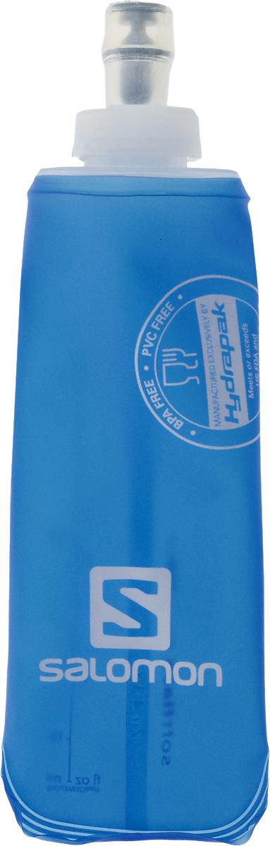 Бутылка спортивная Salomon Soft Flask, 250 мл127902DБутылка Salomon Soft Flask изготовлена из 100% мягкого термополиуретана. Изделие предназначено для использования во время занятий спортом. Бутылка сжимается, когда вы из нее пьете, тем самым уменьшая колебание воды. Благодаря специальной насадке вы не прольете ни капли мимо. Изделие снабжено отметками литража.