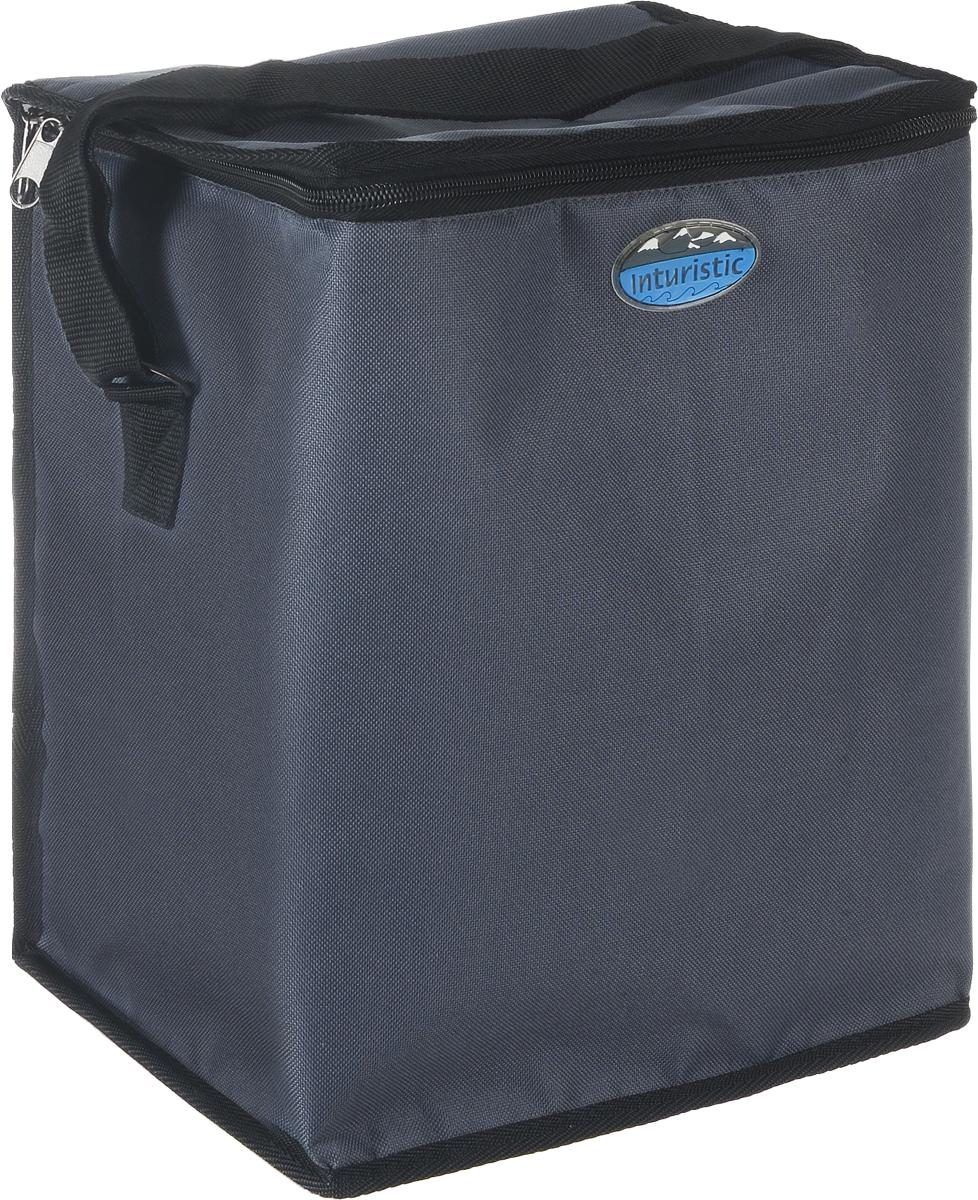 Сумка изотермическая Inturistic, цвет: светло-серый, 17л00004Изотермическая сумка Inturistic поможет сохранить температуру пищи и напитков в течение нескольких часов. Она будет удобна при поездках на дачу, на пикник и дальних путешествиях. Коэффициент теплового отражения не менее 90%. Температурный диапазон от -60°С до 140°С. Вмещает по высоте до 6 ПЭТ бутылок емкостью 1,5 л с прохладительными напитками. Наибольший эффект достигается при использовании аккумуляторов холода. Имеется карман для аккумулятора холода. Карман можно использовать для переноски необходимых мелочей. Сумка удобна для переноски контейнеров с едой и ланч боксов.Материал: Oxford ПВХ, тепло/гидроизоляционный материал, термостойкая изоляция.Объем сумки: 17 л.Размер сумки: 26 х 20 х 32 см.