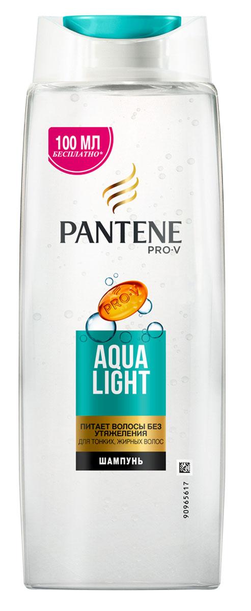 Pantene Pro-V Шампунь Aqua Light, для тонких волос, склонных к жирности, 600 мл81601074Благодаря своей легкой формуле шампунь Pantene Pro-V Шампунь Aqua Light оживляет и очищает волосы от корней до кончиков, а входящие в его состав укрепляющие вещества действуют на микроуровне, питая тонкие волосы и не утяжеляя их. Для наилучших результатов используйте с бальзамом-ополаскивателем и средствами по уходу Aqua Light.