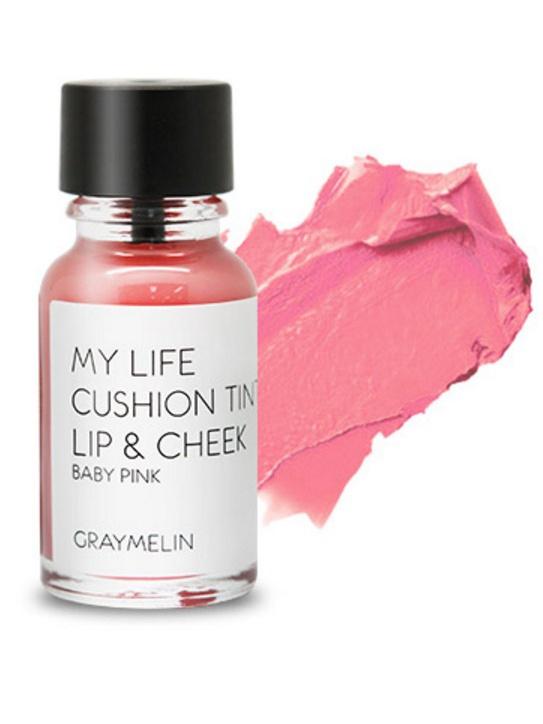 Graymelin, Тинт для губ и щек (baby pink), Cushion Tint Lip & Cheek,5010777139655Легкий тинт для губ и скул с консистенцией эссенции от Graymelin, сохраняет цвет и сочность губ в течение длительного времени, придает румянец и здоровый цвет коже лица, активно увлажняет, питает и впитывается без растекания. Это декоративное и ухаживающее средство не оставляет на губах дискомфорта и жирного блеска, после нанесения не смазывается.