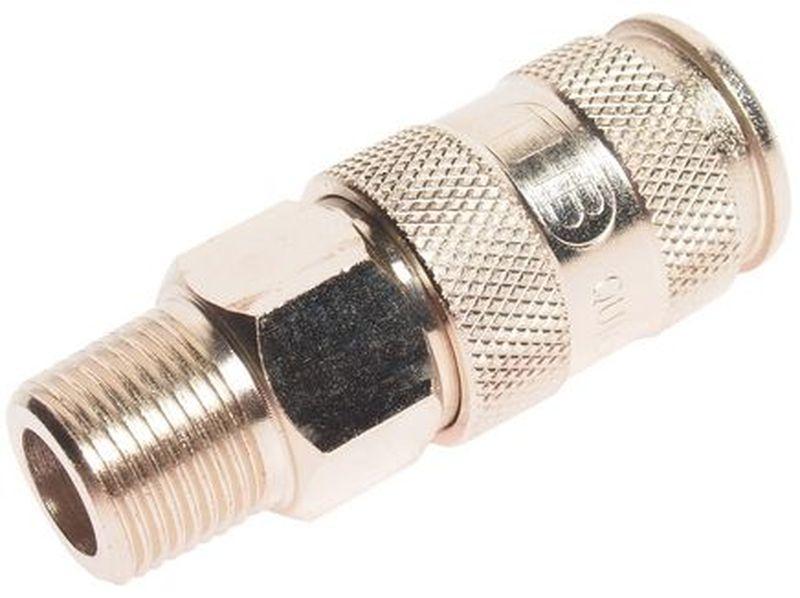 Переходник для компрессора JTC, 3/8, быстросъемный, наружная резьба. JTC-D30SMA80504Переходник JTC, изготовленный из легированной стали, используется совместно с компрессорным оборудованием. Применяется для перехода с резьбы 3/8 на рапид. Созданная конструкция обладает высокой надежностью и герметичностью.Рабочее давление: 20 кг. Тип: 30SMA. Размер: 3/8 РТ male (европейский стандарт).