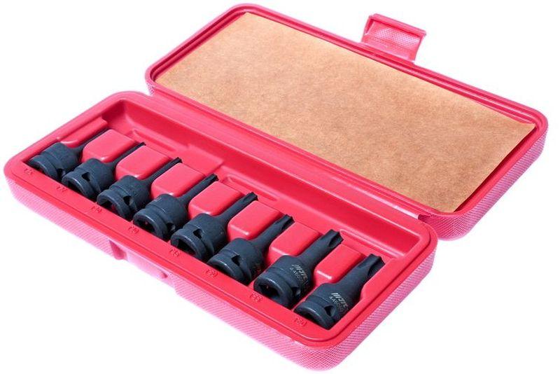 Набор головок торцевых JTC, ударные, 8 шт. JTC-J408TJTC-AE2438Набор ударных торцевых головок JTC предназначен для работы с крепежом имеющий внутренний профиль. Набор отлично подойдет для автослесарной мастерской, станции технического обслуживания и производства.Инструмент расположен в пластиковом кейсе для комфортного хранения и транспортировки. В комплект входит 8 торцевых головок размером Т-25, 27, 30, 40, 45, 50, 55, 60 под ключ 1/2.Длина: 7,8 см.