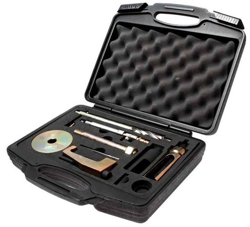 Набор инструментов JTC, для демонтажа форсунок Mercedes CDI. JTC-JW062021395598Специально предназначен для для демонтажа форсунок. Применение: автомобили Мерседес (Mercedes-Benz) CDI.Упаковка: прочный переносной кейс.Габаритные размеры: 335/310/100 мм. (Д/Ш/В) Вес: 4672 гр.