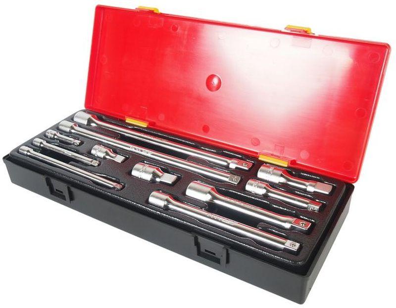 Набор удлинителей для ключей JTC, 11 шт. JTC-K111121395599Набор удлинителей для ключей JTC изготовлен из высококачественной стали. Для удобства транспортировки и хранения предметы набора упакованы в пластиковый контейнер.В комплекте:- удлинитель под ключ 1/4: 2, 4, 6 - 3 шт;- удлинитель под ключ 3/8: 1-3/4, 3, 6, 10 - 4 шт;- удлинитель под ключ 1/2: 2, 3, 5, 10 - 4 шт.