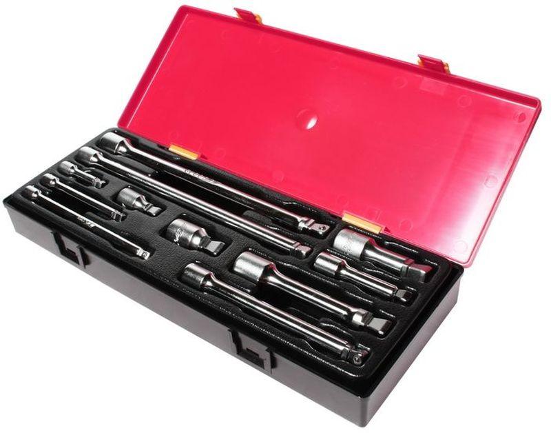 Набор удлинителей JTC, плавающих, 11 шт. JTC-K1112HF002101Набор плавающих удлинителей для ключей JTC изготовлен из высококачественной стали. Для удобства транспортировки и хранения предметы набора упакованы в пластиковый контейнер.В комплекте:- 1/4 плавающий удлинитель - 2, 4, 6 - 3 шт;- 3/8 плавающий удлинитель 1-3/4, 3, 6, 10 - 4 шт;- 1/2 плавающий удлинитель 2, 3, 5, 10 - 4 шт.