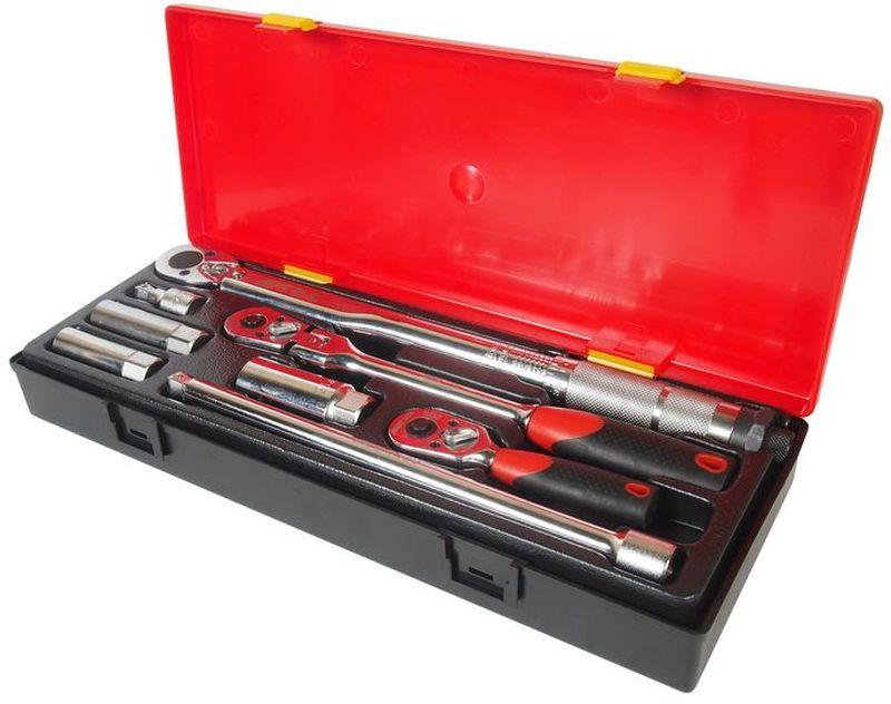Набор инструментов JTC, для свечей зажигания, 8 предметовFS-80423Набор инструментов JTC предназначен для свечей зажигания. Инструменты изготовлены из высококачественной стали. Для удобства хранения и транспортировки все предметы набора упакованы в пластиковый кейс.В комплекте:- динамометрический ключ 3/8 с диапазоном затяжки 10-80 FT/LB - 1 шт;- трещотка (с прорезиненной рукояткой) - 1 шт;- трещотка укороченная (с прорезиненной рукояткой) - 1 шт;- удлинитель плавающий под ключ 3/8, 1-3/4, 10 - 2 шт;- головка для свечей зажигания 3/8 (с пружинным фиксатором) 14 мм. - 1 шт;- головка для свечей зажигания 3/8 (с пружинным фиксатором), 16, 21 мм. - 2 шт.