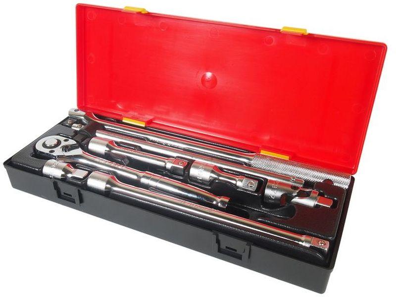 Набор инструментов JTC, 8 предметов. JTC-K408172/14/11Набор инструментов JTC изготовлен из высококачественной стали. Для удобства хранения и транспортировки набор упакован в пластиковый контейнер.В комплекте:-удлинитель под ключ 1/2: 2, 3, 5, 10 - 4 шт;- переходник карданный 1/2 - 1 шт;- вороток с шарниром 1/2, 15 - 1 шт;- вороток с плавающей головкой 1/2, 12 - 1 шт;- трещотка 1/2 - 1 шт.