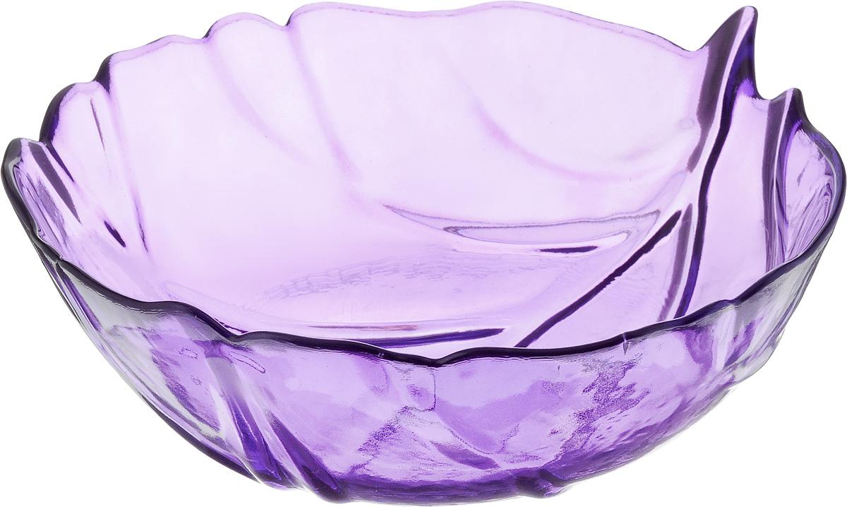Салатник NiNaGlass Флори, цвет: лиловый, диаметр 20W22082022Салатник NiNaGlass Флори выполнен из высококачественного стекла и декорирован рельефным узором. Он подойдет для сервировки стола, как для повседневных, так и для торжественных случаев.Такой салатник прекрасно впишется в интерьер вашей кухни и станет достойным дополнением к кухонному инвентарю. Подчеркнет прекрасный вкус хозяйки и станет отличным подарком. Диаметр салатника (по верхнему краю): 20 см. Высота: 8 см.