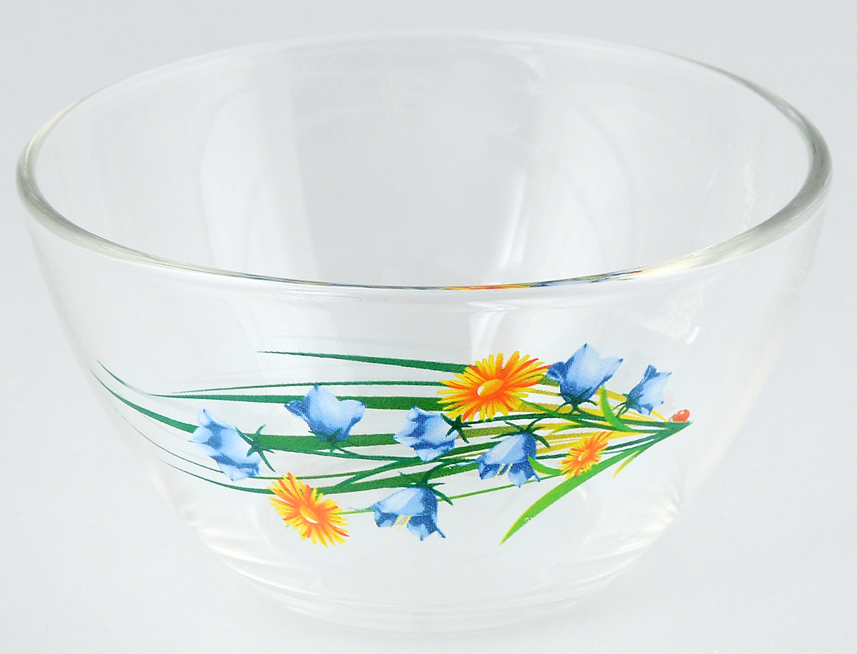 Салатник OSZ Цветочная Феерия, диаметр 11 см115510Салатник OSZ Цветочная Феерия изготовлен из бесцветного стекла и украшен ярким рисунком. Идеально подходит для сервировки стола.Салатник не только украсит ваш кухонный стол и подчеркнет прекрасный вкус хозяйки, но и станет отличным подарком. Объем салатника: 250 мл. Высота салатника: 6 см.