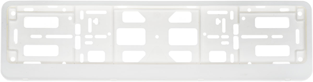 Рамка номерного знака Триада Classic, с защелкой книжка, цвет: белый94672Рамка номерного знака Триада Classic изготовлена из высокопрочного пластика. Рамка выполнена в виде книжки, с откидывающейся верхней панелью, которая служит для крепления номерного знака по всему периметру, защелки жесткие. Крепление позволяет устанавливать рамку на любых автомобилях, включая американские и японские.