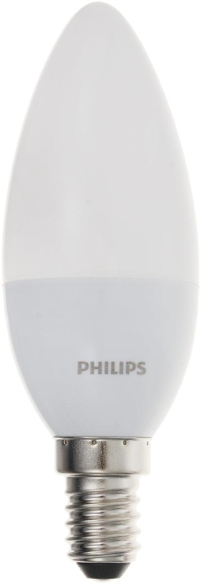 Лампа светодиодная Philips CorePro LEDcandle, цоколь E14, 5,5 W, 2700KC0044702Современные светодиодные лампы Philips CorePro LEDcandle экономичны, имеют долгий срок службы и мгновенно загораются, заполняя комнату теплым светом. Лампа формы свеча и высокой яркости позволяет создать уютную и приятную обстановку в любой комнате вашего дома.Светодиодные лампы потребляют на 90% меньше электроэнергии, чем обычные лампы накаливания, излучая при этом привычный и приятный свет. Срок службы светодиодной лампы Philips CorePro LEDcandle составляет не менее 15 000 часов, благодаря чему менять лампы приходится значительно реже, что сокращает количество отходов.Напряжение: 220-240 В.
