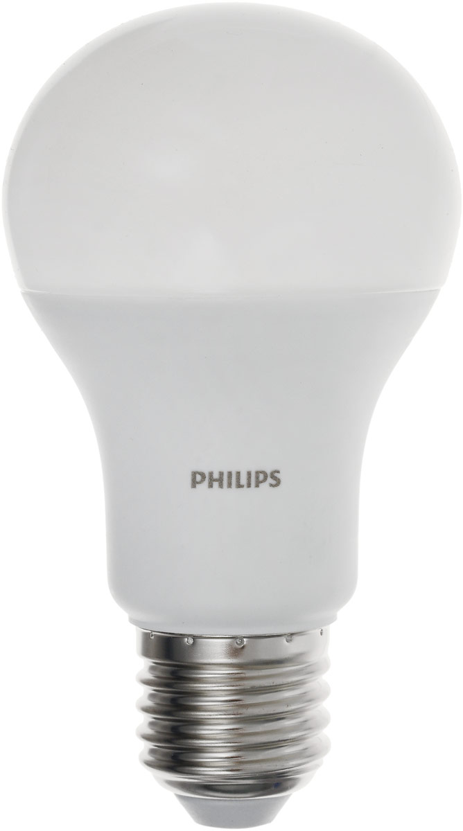 Лампа светодиодная Philips LED bulb, цоколь E27, 13W, 3000KRSP-202SСовременные светодиодные лампы LED bulb экономичны, имеют долгий срок службы и мгновенно загораются, заполняя комнату светом. Лампа оригинальной формы и высокой яркости позволяет создать уютную и приятную обстановку в любой комнате вашего дома. Светодиодные лампы потребляют на 87% меньше электроэнергии, чем обычные лампы накаливания, излучая при этом привычный и приятный теплый свет. Срок службы светодиодной лампы LED bulb составляет до 1500 часов, что соответствует общему сроку службы пятнадцати ламп накаливания. Благодаря чему менять лампы приходится значительно реже, что сокращает количество отходов. Напряжение: 220-240 В. Световой поток: 1400 lm. Эквивалент мощности в ваттах: 100 Вт.