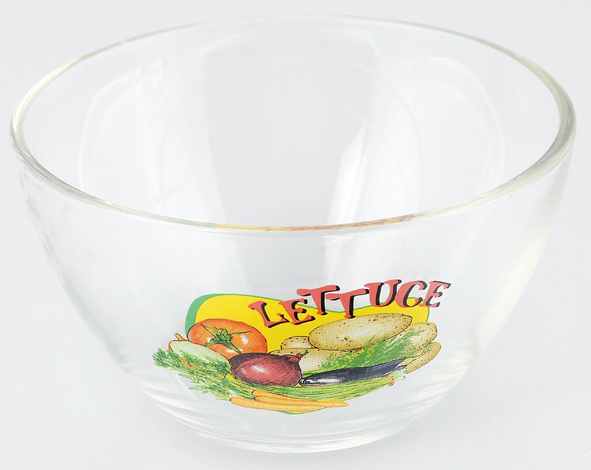 Салатник OSZ Латук, диаметр 10,5 см54 009312Салатник OSZ Латук изготовлен из бесцветного стекла и украшен ярким рисунком. Идеально подходит для сервировки стола.Салатник не только украсит ваш кухонный стол и подчеркнет прекрасный вкус хозяйки, но и станет отличным подарком. Объем салатника: 250 мл. Высота салатника: 6 см.