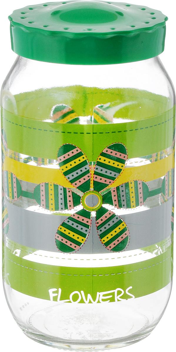 Банка для сыпучих продуктов ОСЗ Ассорти. Карусель зеленая, 1 лL2520269Банка для сыпучих продуктов ОСЗ Ассорти. Карусель зеленая изготовлена из прочного стекла. Прозрачные стенки позволяют видеть содержимое. Внешняя поверхность декорирована ярким рисунком. Банка снабжена закручивающейся крышкой из прочного пластика. Изделие подходит для хранения разнообразных сыпучих продуктов, таких как крупы, сахар, соль, чай, кофе. Банка сбережет ваши продукты от влаги, пыли и насекомых и надолго сохранит их свежими. Диаметр банки (по верхнему краю): 7,5 см. Высота банки (с учетом крышки): 19 см.