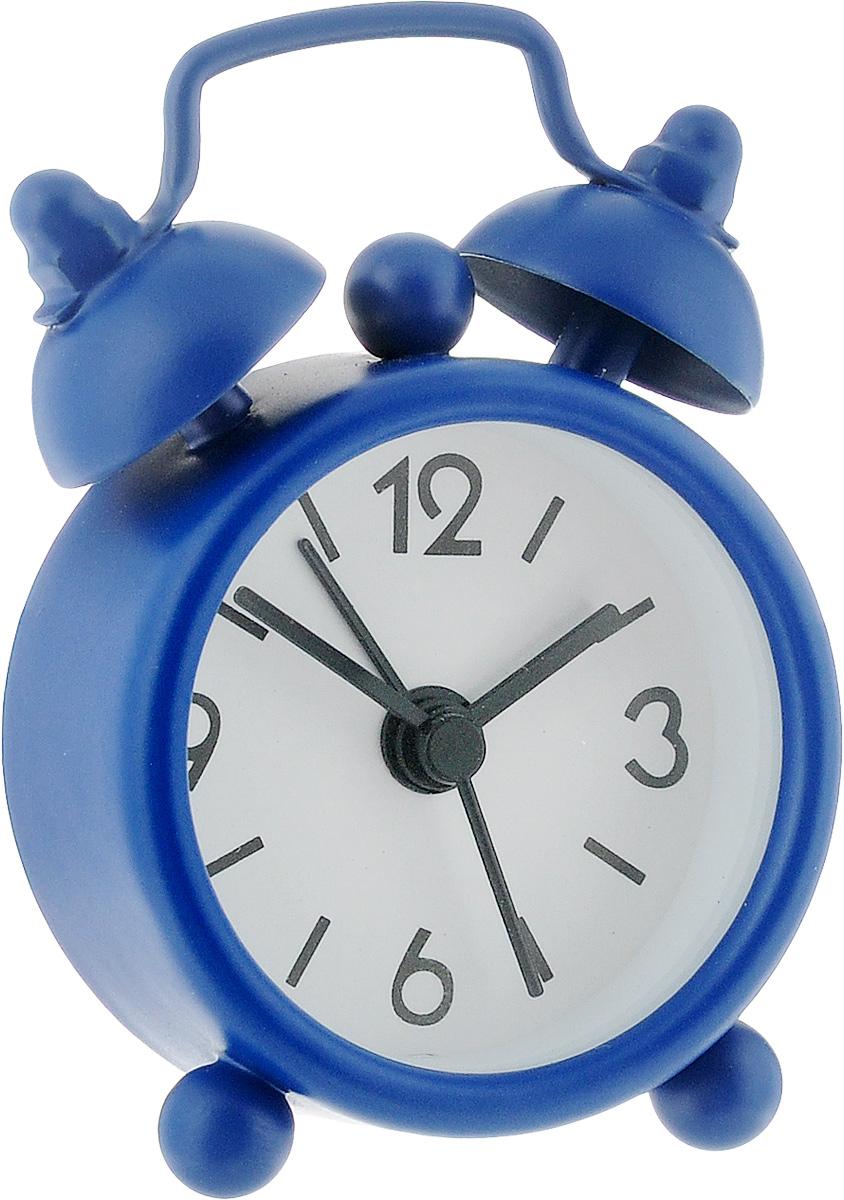 Часы-будильник Sima-land, цвет: синий. 11038984630011250796Как же сложно иногда вставать вовремя! Всегда так хочется поспать еще хотя бы 5 минут и бывает, что мы просыпаем. Теперь этого не случится! Яркий, оригинальный мини-будильник Sima-land поможет вам всегда вставать в нужное время и успевать везде и всюду. Эта уменьшенная версия привычного будильника умещается на ладони и работает так же громко, как и привычные аналоги. Время показывает точно и будит в установленный час.На задней панели будильника расположены переключатель включения/выключения механизма, а также два колесика для настройки текущего времени и времени звонка будильника.Будильник работает от 1 батарейки типа LR44 (входит в комплект).