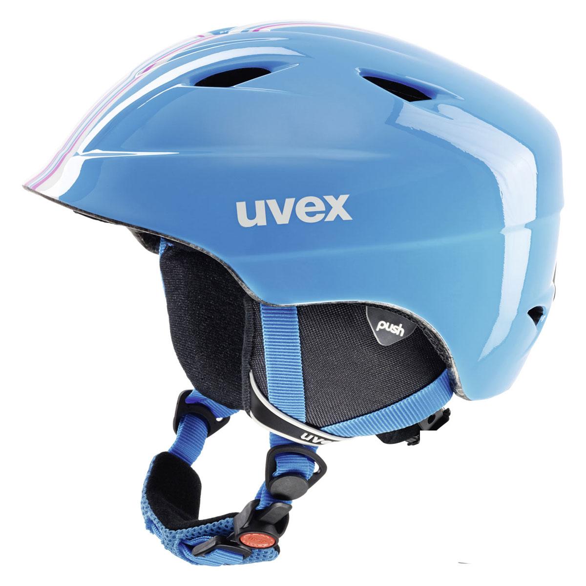 Шлем зимний Uvex Airwing 2, детский, цвет: голубой. Размер S9062_16Шлем детский Uvex Airwing 2. Функциональные особенности модели: гипоаллергенный материал подкладки, система вентиляции, съемная защита ушей, фиксатор стрэпа маски, система индивидуальной подгонки размера IAS, застежка Monomatic. Сделано в Германии.Конструкция In-mouldВентиляция ПринудительнаяСертификация EN 1077 B / ASTM F 2033Регулировка размера ДаТип регулировки размера IASМатериал внешней раковины АБС-пластикМатериал внутренней раковины ПенополистиролМатериал подкладки Полиэстер