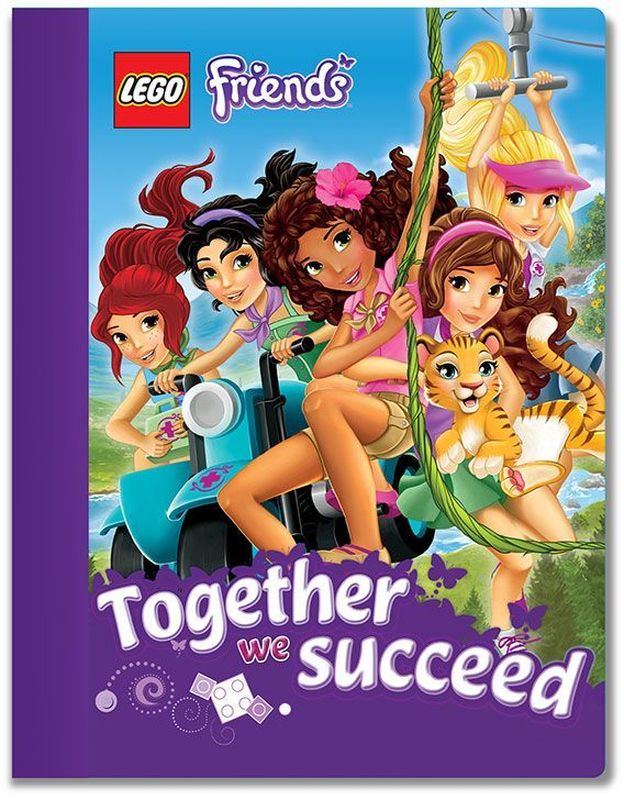 LEGO Friends Тетрадь 100 листов в линейку 5160472523WDТетрадь в линейку LEGO Friends предназначена для школьных занятий и просто для записей. Стильный дизайн обложки, сочетающий различные цвета и изображения любимых персонажей делает тетрадь подходящей для учениц начальной и средней школы. Плотная обложка из высококачественного картона не даст помяться страничкам.