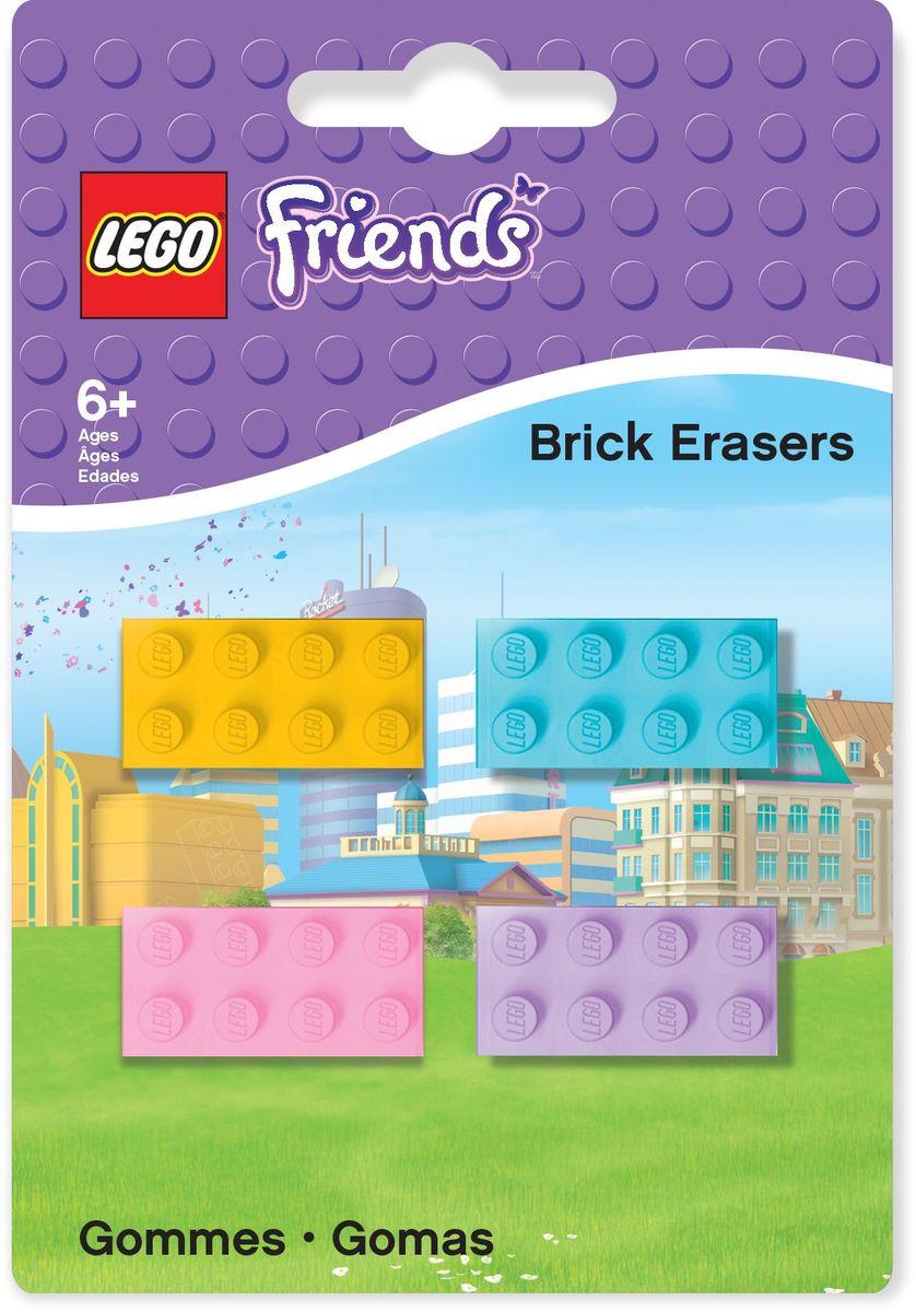 LEGO Friends Ластик 4 шт 51608FS-36054Ластик LEGO Friends подходит для стирания графитовых рисунков и надписей, не оставляет разводов, не царапает поверхность.Набор состоит из 4 ластиков, выполненных в форме классического кирпичика LEGO.