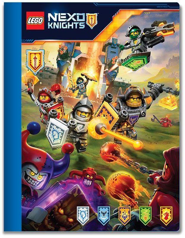 LEGO Nexo Knights Тетрадь 100 листов в линейку 5164172523WDТетрадь в линейку LEGO Nexo Knights предназначена для школьных занятий и просто для записей. Стильный дизайн обложки, сочетающий различные цвета и изображения любимых персонажей делает тетрадь подходящей для учеников начальной и средней школы. Плотная обложка из высококачественного картона не даст помяться страничкам.