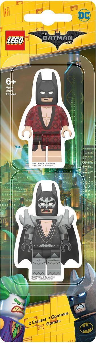 LEGO Batman Movie Ластик 2 шт 517580703415Ластик LEGO Batman Movie подходит для стирания графитовых рисунков и надписей, не оставляет разводов, не царапает поверхность.Такие ластики станут оригинальным подарком для всех поклонников LEGO!В наборе 2 фигурных ластика.