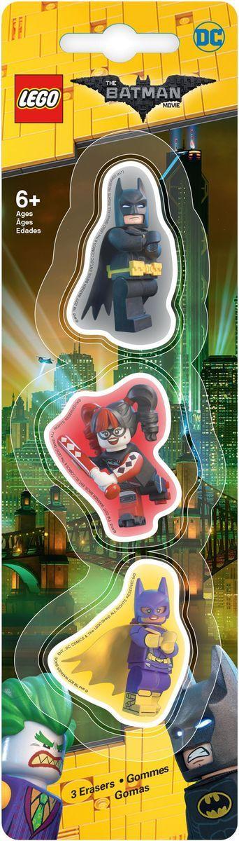 LEGO Batman Movie Ластик 3 шт 5175972523WDЛастик LEGO Batman Movie подходит для стирания графитовых рисунков и надписей, не оставляет разводов, не царапает поверхность.Такие ластики станут оригинальным подарком для всех поклонников LEGO!В наборе 3 фигурных ластика.