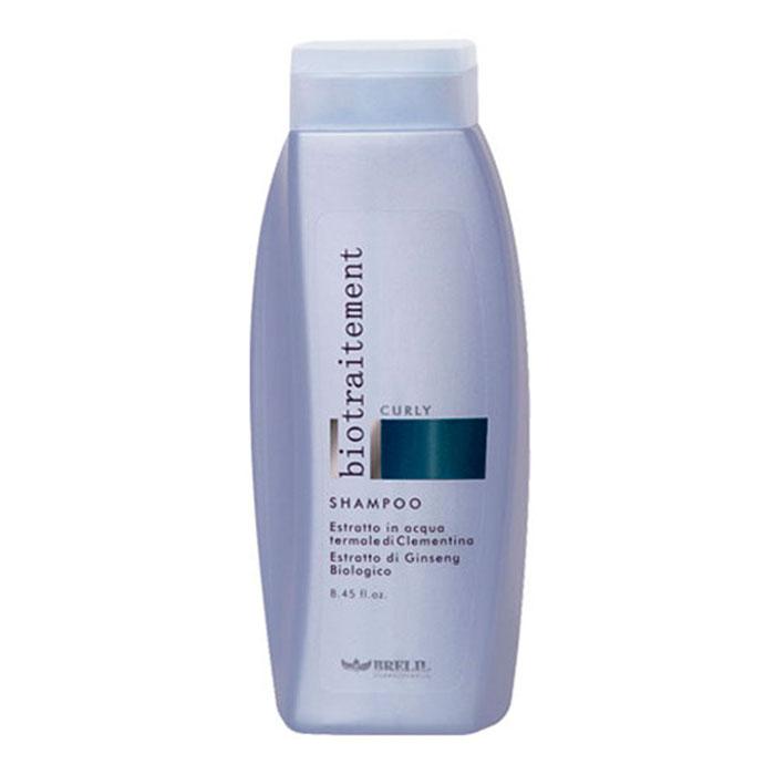 Brelil Шампунь для вьющихся волос Bio Traitement Curly Shampoo, 250 млSatin Hair 7 BR730MNДисциплинирующий шампунь для вьющихся волос. Его состав с экстрактом клементина на термальной воде и экстрактом женьшеня биологического происхождения питает и увлажняет локоны, не утяжеляя их и делая мягкими и эластичными.