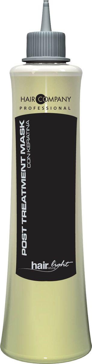 Hair Company Маска восстанавливающая для волос Hair Light Post Treatment Mask 250 млFS-00897Восстанавливающая маска Hair Company Hair Light Post Treatment Mask с кератиновыми протеинами, придает эластичность волосам, делая их мягкими и питая естественными аминокислотами, содержащимися в молекулярной структуре волос. Выравнивает уровень рН, сглаживает чешуйки, избегая преждевременного смывания пигмента после химической завивки, выпрямления и окрашивания, помогает волосам восстановить необходимый водный баланс. Способ применения: Нанести на вымытые шампунем Post Тгеаtmепt и подсушенные волосы. Оставить на 3-5 минут и смыть водой.