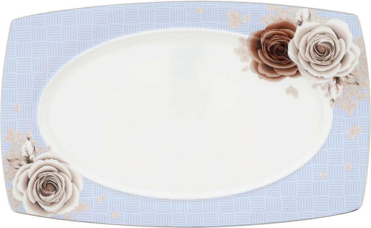 Блюдо для нарезки Дэниш, 25 х 16 см115510Блюдо для нарезки Дэниш, изготовленное из фарфора, оформлено цветочным принтом. Такое блюдо сочетает в себе изысканный дизайн с максимальной функциональностью. Красочность оформления придется по вкусу тем, кто предпочитает утонченность и изящность. Оригинальное блюдо украсит сервировку вашего стола и подчеркнет прекрасный вкус хозяйки, а также станет отличным подарком.