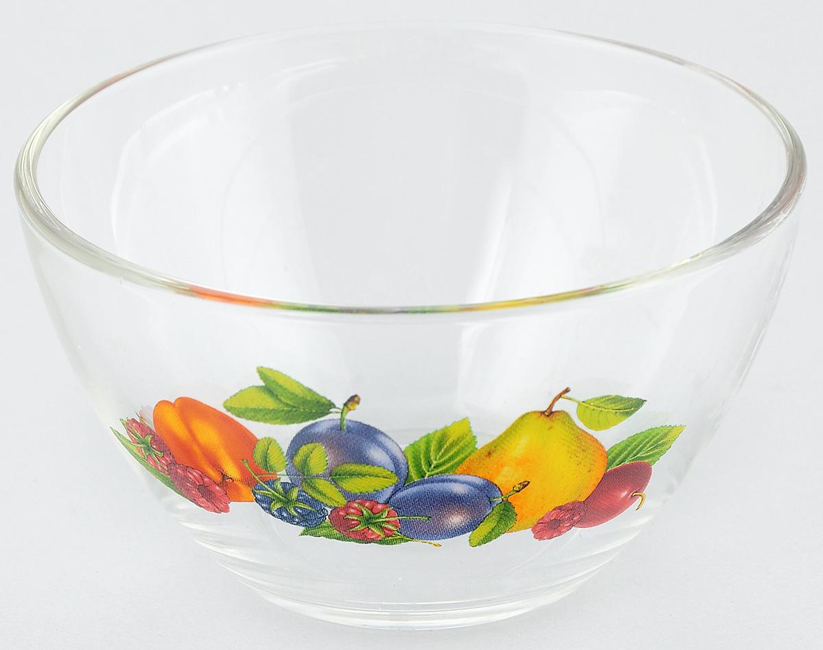 Салатник OSZ Фруктовая Феерия 2, диаметр 10,5 смFS-91909Салатник OSZ Фруктовая Феерия 2 изготовлен из бесцветного стекла и украшен ярким рисунком. Идеально подходит для сервировки стола.Салатник не только украсит ваш кухонный стол и подчеркнет прекрасный вкус хозяйки, но и станет отличным подарком. Объем салатника: 250 мл. Высота салатника: 6 см.