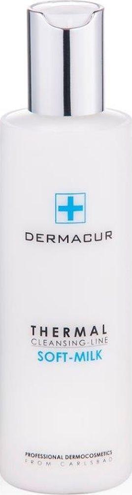 Питающее очищающее молочко Soft Milk Dermacur, 200млFS-00897Питающее нежное очищающее молочко с гиалуроновой кислотой, витамином Е, аргановым маслом и смесью из карловарских солей тщательно устраняет макияж и загрязнения с кожи. Оно защищает гидролипидную пленку и оставляет кожу свежей, нежной и увлажненной. Подходит и для чувствительной кожи.Эффект использования питающего очищающего молочка SOFT MILK: - Эффективное увлажнение в течение всего дня. - Длительное увлажнение в ночное время суток. - Восстановление и тонизирование. - Разглаживание и профилактика морщин. - Устранение сухости кожи. - Регенерация и восстановление кожи лица.Применение питающего очищающего молочка SOFT MILKНанесите молочко кончиками пальцев или ватным тампоном на лицо и шею, тщательно разотрите с помощью мягкого массажа, и снимите ватным тампоном, очищающей или чистой водой.