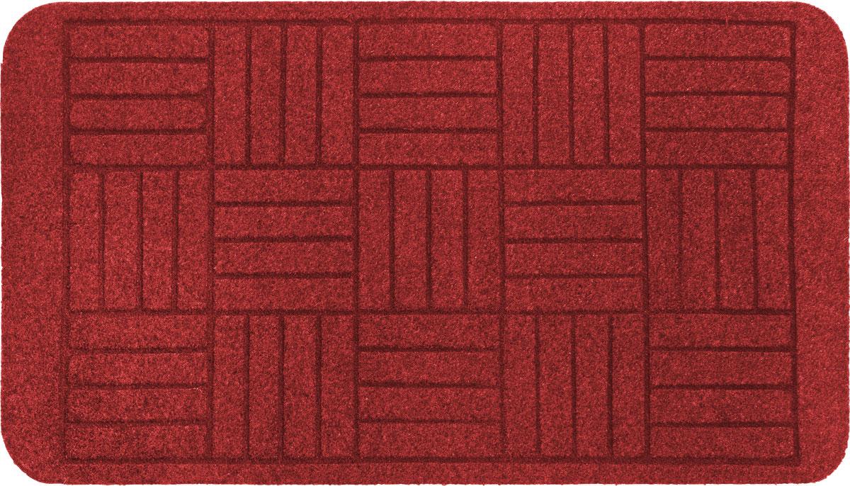 Коврик придверный EFCO Оскар. Паркет, цвет: красный, 70 х 40 см